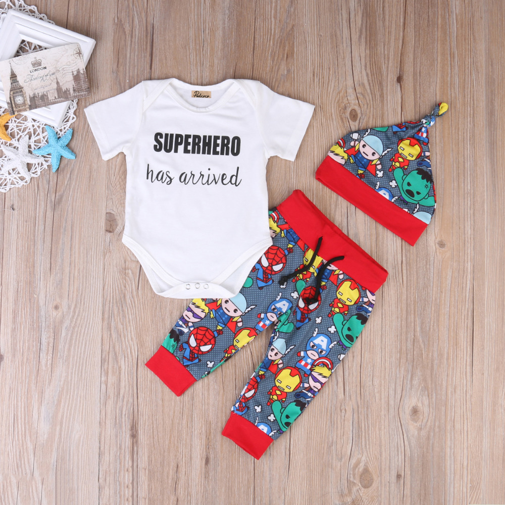Pudcoco-2017-Hot-3PCS-Newborn-Infant-Baby-Boys-Clothes-Cartoon-Tops-Short-Sleeves-Romper-Pants-Hat-Outfits-Set-0-18M-2