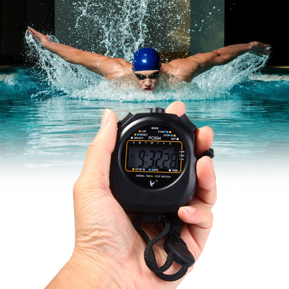 Exact PC894 Electronic Stopwatch Large Scale Digital Running Timer Chronograph Counter Professional Sports Stop Watch