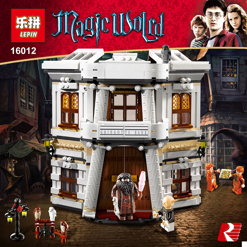 Lepin 16012 2025pcs Series Harry Potter The Diagon Alley Set Building Blocks Bricks Educational Toys Compatible legoed 10217 lepin 22002 1518pcs the maersk cargo container ship set educational building blocks bricks model toys compatible legoed 10241
