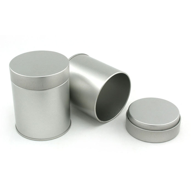 a61b9d4baa 9 cm Alta Pequeno Cilindro de Metal Caixa Redonda Da Lata De Armazenamento  Caixa de Chá