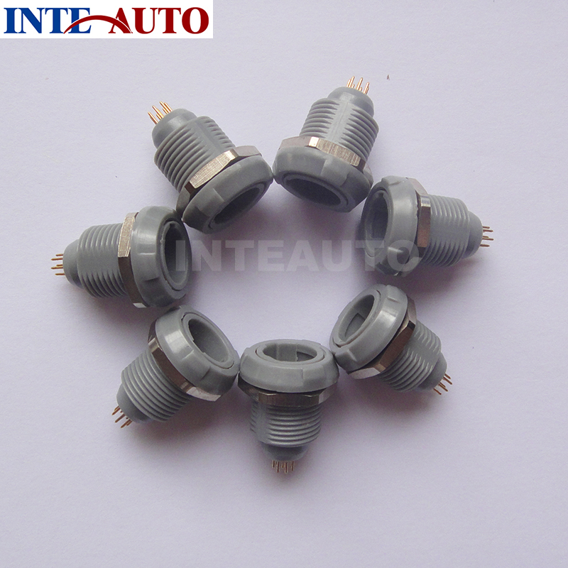 Lemo plastic socket receptacle,multipins medical push pull self-locking circular connector, PKG,8 pins