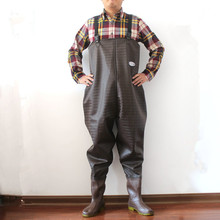 купить Upgraded Winter Men Plus Fleece Warm Waders Oxford Pants With Rain Boots Outdoor Fishing Male Water Working Washing Car Trousers по цене 4618.55 рублей