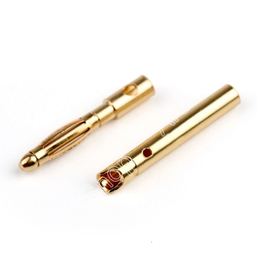 Areyourshop 2mm Banana Plug Jack Pin Bullet Connector Copper For RC Battery Motor Male+Female 10Pair 5 5mm bullet banana connect plug with connectors for rc battery golden 20 pair