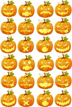 24 pumpkin emojis edible cake topper wafer rice paper cake decoration halloween cupcake topper wedding cake decor party supplier