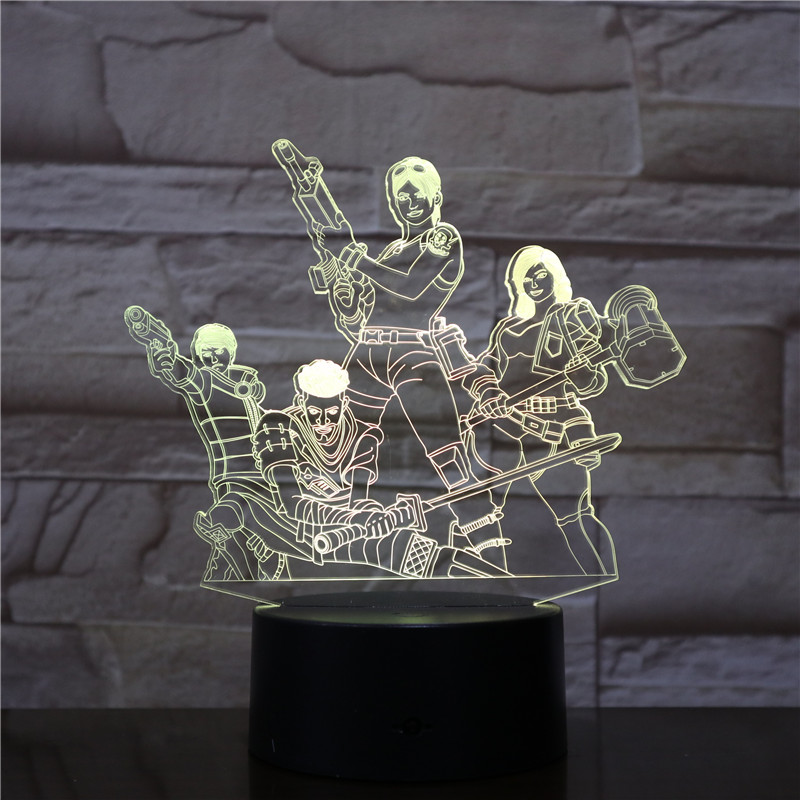 NEW HOT Game Team Figure 3D Table Lamp LED Night Light 7 Colors Changing Bedroom Sleep Lighting Home Decor Gifts