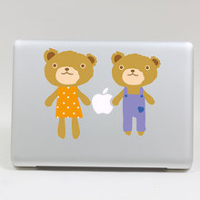 Removable DIY fashion colorful cartoon two bears Armor tablet sticker laptop computer sticker for laptop,205*270mm