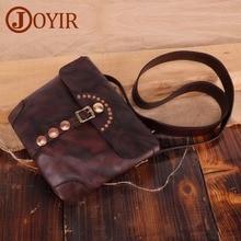 JOYIR Brand Messenger Bag For Men Women Shoulder Genuine Leather Vintage Satchel Man Travel Leisure Bags Handbags