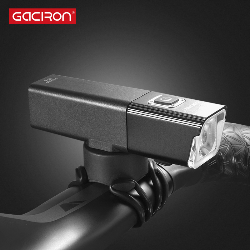 GACIRON 800LUMEN Front Handlebar Bicycle Light USB Rechargeable LED Lamp Waterproof Bike Light Cycling Accessories gaciron 1000lumen bicycle bike headlight usb rechargeable cycling flashlight front led torch light 4500mah power bank for phone