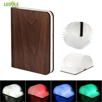 LEDGLE Foldable Book Light Rechargeable LED Night Light Creative Book Shaped Lamp For Decor 4 Color