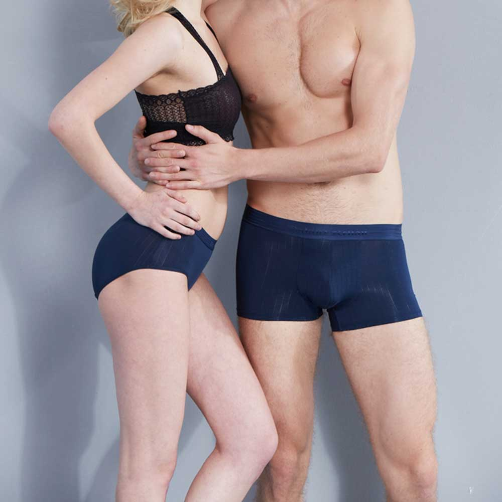 2017 New solid sexy couple underwear cueca fashion Valentines Day Gift low-rise underwear panties boxer Modal trunk shorts
