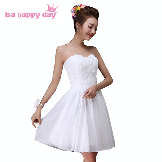 4a509a9e54e simple modest elegant chiffon halter neck cocktail summer ivory short dress  lace up back dresses new arrival 2017 H3563