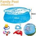 Ver através de 240 cm transparente azul piscinas acima do solo, família piscina inflável piscina para adultos fácil set do aqua piscina