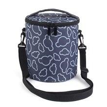 Утолщение Цилиндрические Bolsa Termica Marmita Com Тепловой Пакет с Чайник Длинный Ремень Баррель Изоляции Сумка Обед Сумки