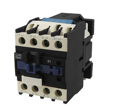 CJX2-2501 AC Contactor 25 Amp 3 Phase 3-Pole NC 220V 50/60Hz CoilCJX2-2501 AC Contactor 25 Amp 3 Phase 3-Pole NC 220V 50/60Hz Coil