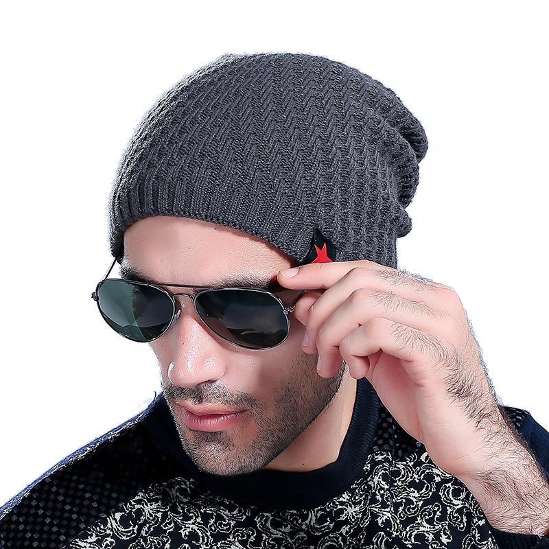 Brand New Beanies Knit Men's Winter Hat Caps Skullies Bonnet Winter Hats For Men Women Beanie Fur Warm Baggy Wool Knitted Hat new brand beanies knit men s winter hat caps skullies bonnet winter hats for men women beanie fur warm baggy wool knitted hats