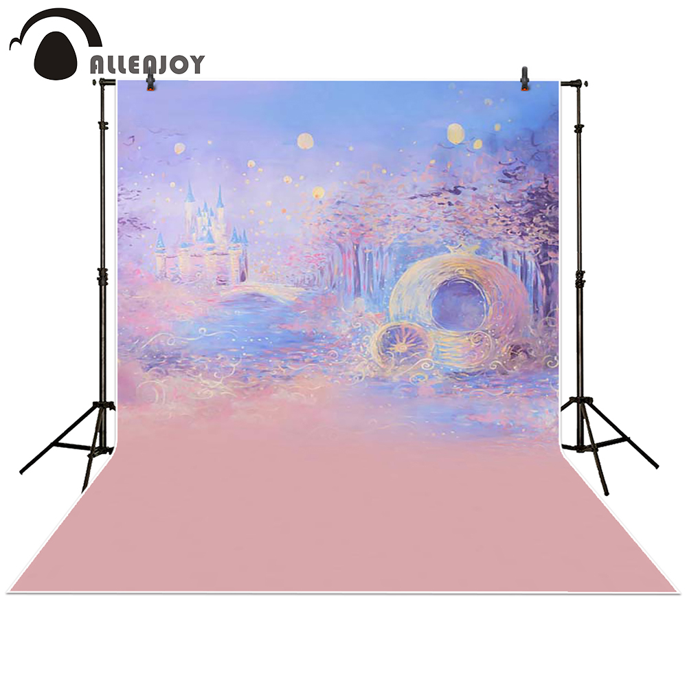 Allenjoy Photography backdrops background Blue bokeh dreamy night castle boy girl summer baby shower Photography studio