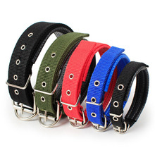 Soft Foam Padded Dog Collar Durable Nylon Pet For Small Medium Large Dogs Sponge Liner Pets Necklet PU Leather Cat Choker