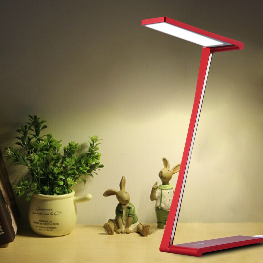 Floureon 5W LED Modern Ultra Thin Dimming Table Lamp Eye Care Promise USB  Charging Reading Lamps Foldable Table Lamp For Student