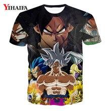 Summer Men 3D Print T shirt Goku Saiyan Vegeta Dragon Ball Z Anime Casual Tee Shirts Hip Hop Graphic Funny Tops