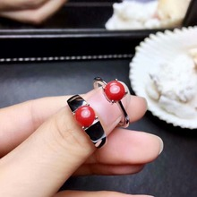 shilovem 925 sterling silver real Natural red coral rings fine Jewelry wedding women trendy open party gift new mj0606990agsh