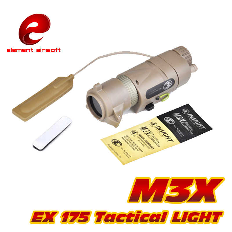 องค์ประกอบ Airsoft ไฟฉาย M3X อาวุธยุทธวิธี Softair Wapens อาวุธสำหรับ Arsoft Armas ปืนไรเฟิลความดันแขนโคมไฟแสงปืน