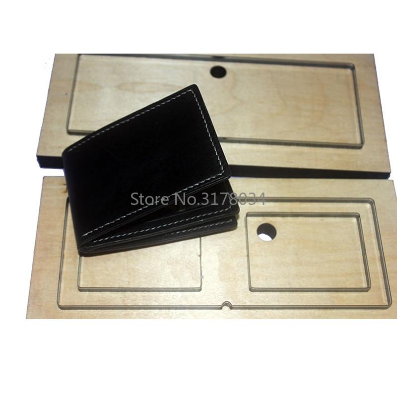 Nouveau 3 couches 4 fentes de carte pliant porte-carte japon lame en acier règle Die Cut en acier poinçon coupe moule bois meurt pour l'artisanat en cuir