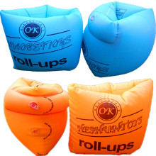 Uppblåsbara Roll-ups Uppblåsbara Armring Runda Floats Overleeve Badring Dubbel Ballong Pool Float Swimming Arm Circle