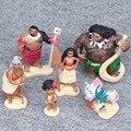 Dos Estilo caliente 6 unids/set Moana Princesa Maui Jefe Tui Tala Heihei Pua Moana Figura de Acción Juguetes Figuras de Anime Juguetes de la Muñeca de Regalo de Los Cabritos