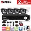 Tmezon 4ch dvr sistema de vigilancia de la seguridad casera 4 unids 1.0mp ahd 720 P Cámara Impermeable Al Aire Libre IR de La Visión Nocturna 1 TB 2 TB HD Kit