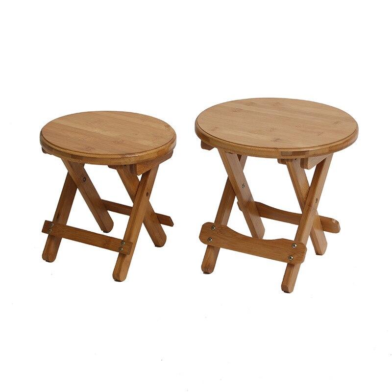 Moda simple plegable bajo taburete de madera redonda heces cambio ...