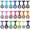 Новых Медсестер Часы Врач портативный Брелок Часы Броши Силиконовые Мундир Батареи Медсестра Кварцевые Часы с Зажимом