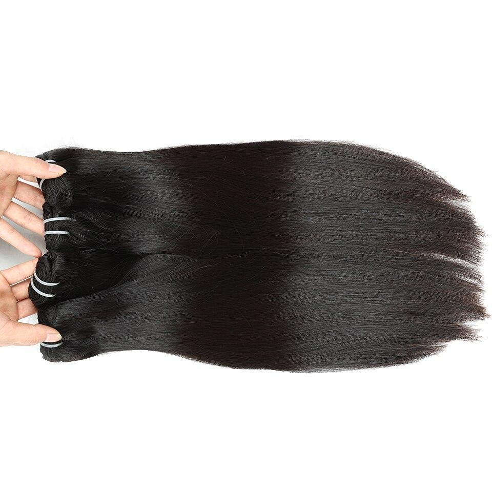 Queen like 3 / 4 Bundles Straight Hair Bundles With Closure Non Remy 100% Human Hair Weft Malaysian Hair Bundles With Closure