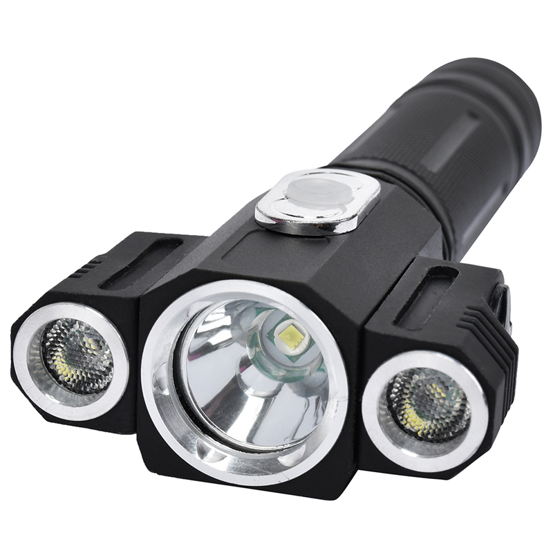 High Quality Tactical 10000 Lumen 3 LEDs rotating CREE T6+2*XPE LED Flashlight Torch Light 5 Modes 18650 Hunting