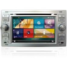 7 Inch 2 Din Car DVD Player For Ford Focus Galaxy Fiesta S Max C Max Fusion Transit Kuga Indash GPS Navi Radio Stereo Bluetooth