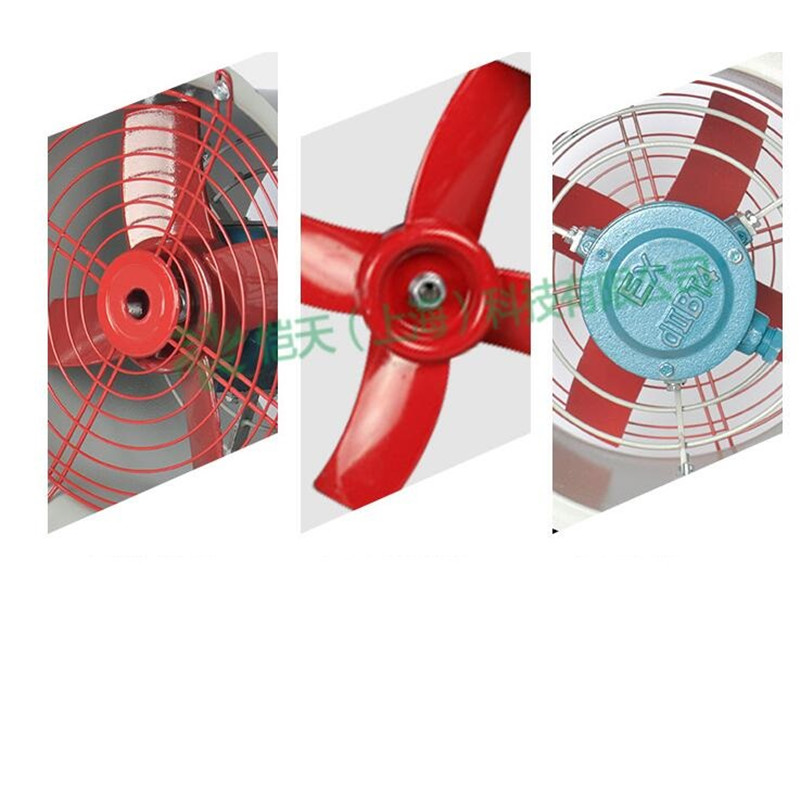 Axial fan 220V 180W/250W Explosion proof axial fan Pure copper motor Large air volume Factory tunnel Ventilation