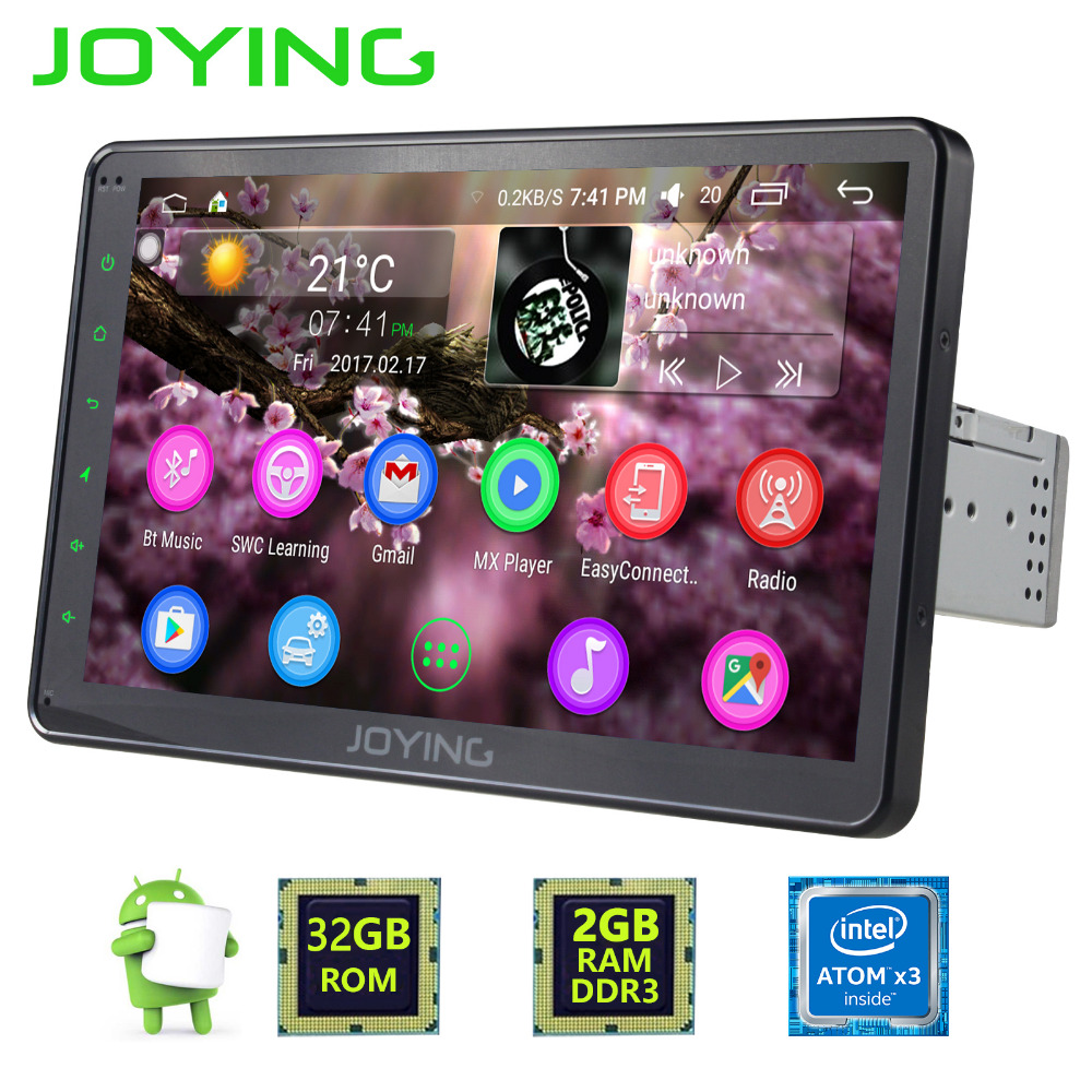 joying 1din 10 39 39 touch screen android 6 0 car radio gps. Black Bedroom Furniture Sets. Home Design Ideas