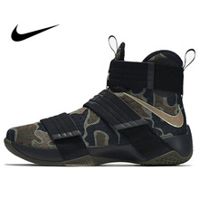 dcd5279b08f6 Original Authentic NIKE Originals LEBRON SOLDIER 10 Men s Cool Camouflage Basketball  Shoes Sneakers High Breathable Durable