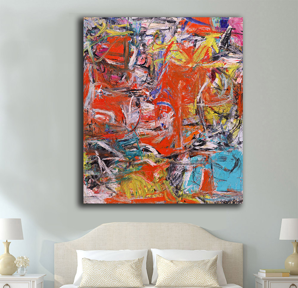 Composition By Willem De Kooning Oil Painting Wall Art