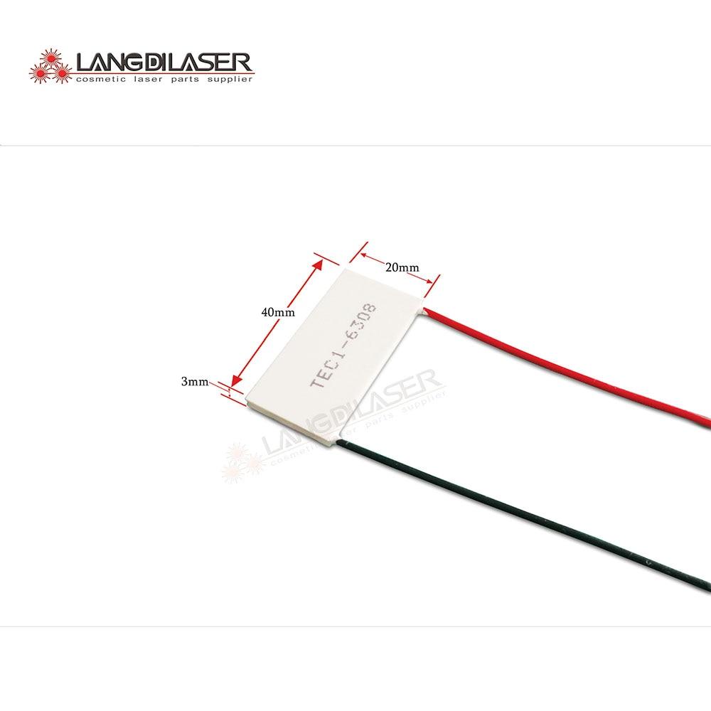 Peltier kühlung platte, code: TEC1-6308, für IPL laser schönheit maschine handstück, größe: 40*20*3,0mm