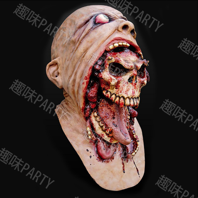 Europe and the United States Popular Halloween Masks A Dead-alive Person Zombie Skull Mask Cosplay Dance Performance Toy