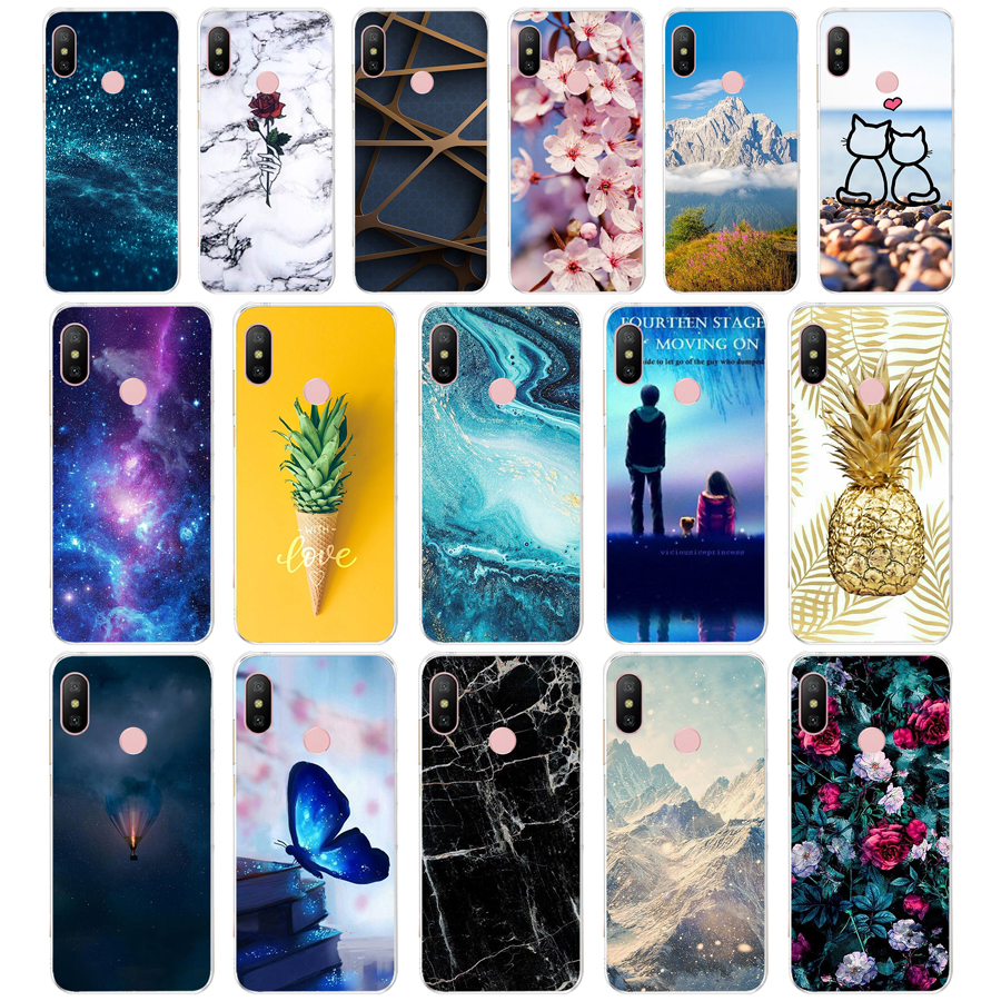 N silicone Cover For Xiaomi MI A2 LITE Case Full Protection Soft tpu Back Cover Phone Cases For Xiomi MI A2 LITE bumper Coque