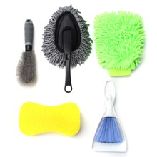Universal 8 PCS Car Washing Interior Exterior Kit Products Tools Set Including Brush+Sponge+Glove+Wax Drag