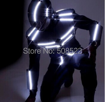 LED dance suit / LED Robot costume / LED Light costume / LED glowing clothes Size/ color customized
