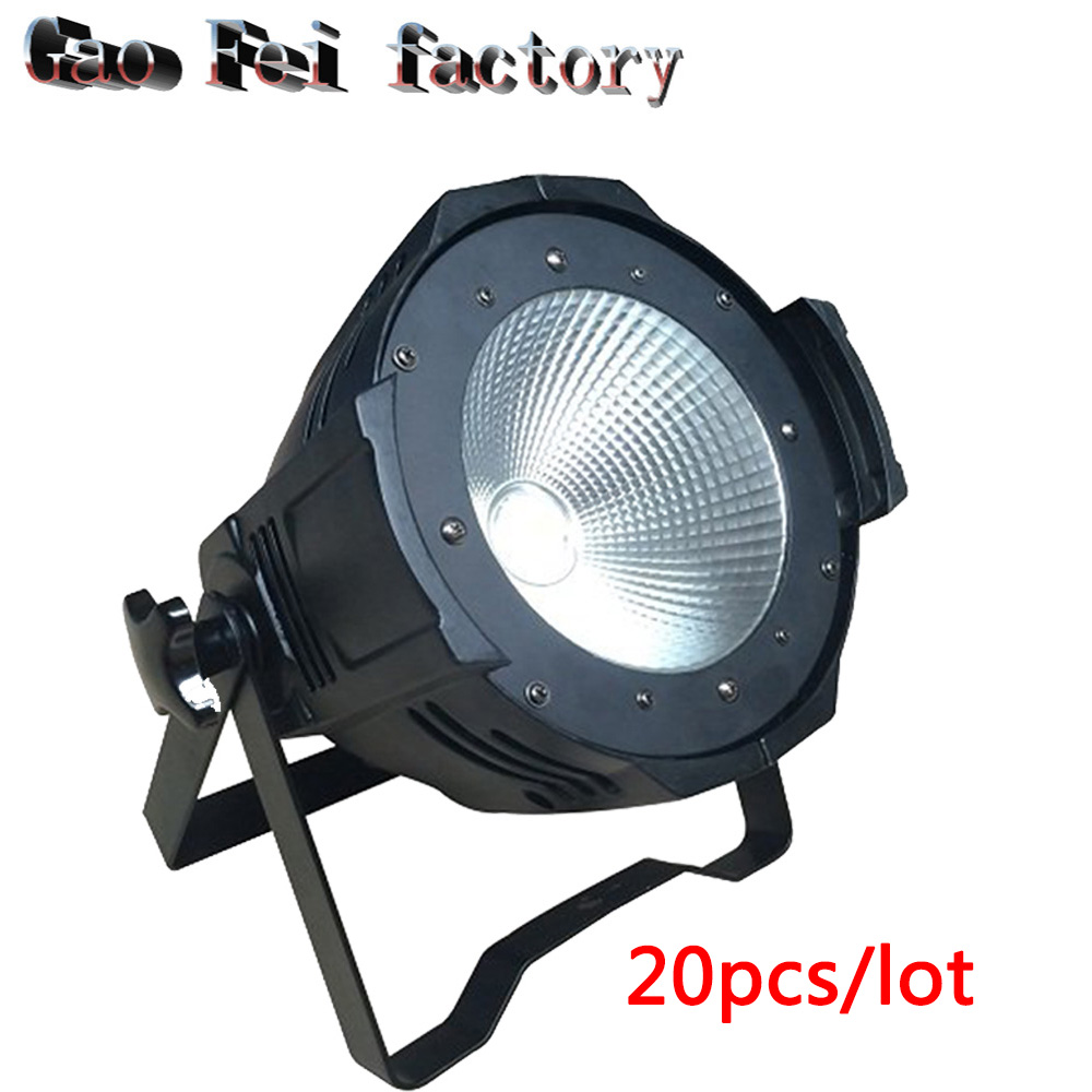 20X High brightness LED Par Light COB 100W Aluminium case White And warm white DJ DMX Led Beam Wash Strobe Effect Stage Lighting led par cob 200w only violet strobe stage light high power dmx512 light aluminium case stage lighting dj equipment