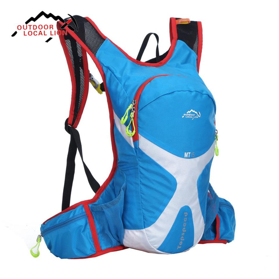 15L Outdoor Riding Climbing Hiking Backpack Bicycle Running Bag Bike Bicycle Cycling Rucksack Hydration Pack Water Bladder Bag