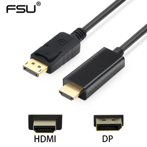 Image 2 - 1080P 60Hz Displayport to HDMI Adapter Cable Male to Male Gold Plated DP to HDMI Cable for PC Laptop HD Projector 1.8M 3M