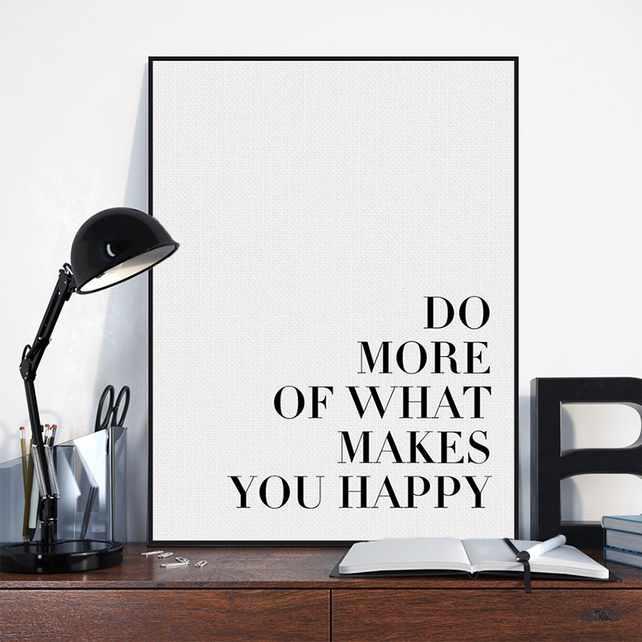 Minimalist black motivational life quotes a4 art print for Minimalist items for home