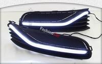 2pcs Set ABS LED Car DRL Daytime Running Lights For Volkswagen Polo 2014 2015 2016