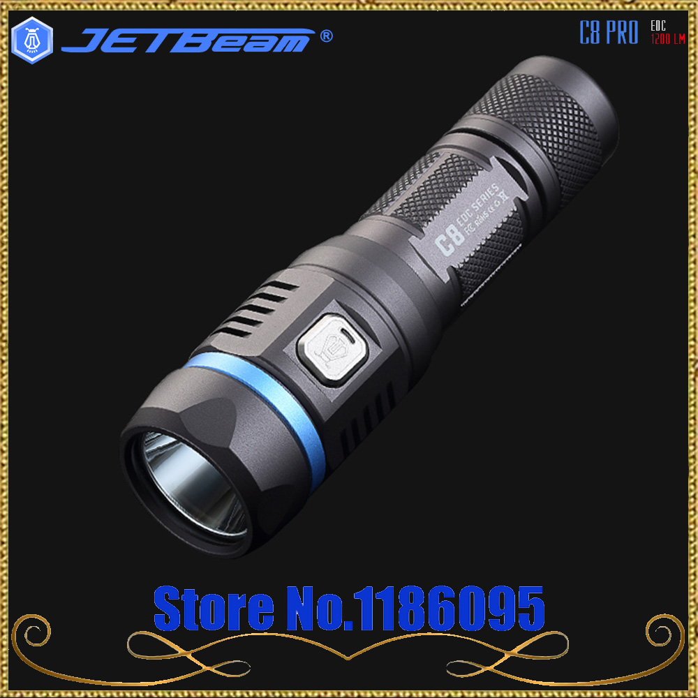 Jetbeam C8 PRO Outdoor Flashlight SST-40 N4 BC LED 18650 1200lm 4 Modes High Power hunting,searching,camping,fishing jetbeam c8 pro outdoor powerful tactical led flashlight 18650 1200lm high power pocket light penlight 4 modes light torch lamp