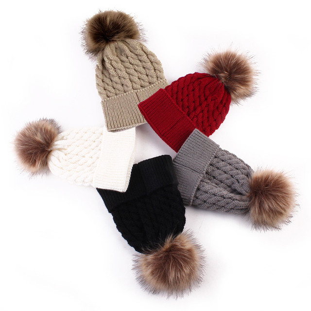 Fashion Brands Autumn Winner Newborn Cute Winter Kids Baby Hats Knitted Wool  Hemming Hat Wholesale And Drop Shipping dc2546c351c